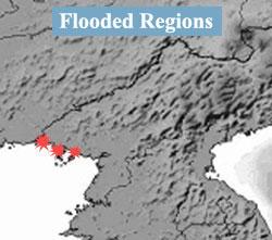 高潮被害にあった平安北道の鉄山、龍川、宣川