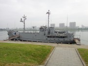 大同江に係留されたプエブロ号