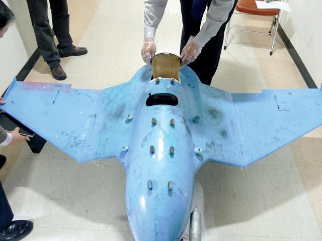 韓国のパジュで発見された無人機(画像:韓国国防省)