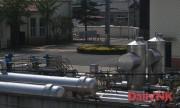 対北朝鮮パイプライン丹東基地内の加圧施設