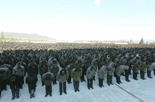 平壌で開かれた中央追悼大会