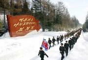 2014年12月28日付労働新聞より朝鮮人民軍が雪の行進/本文とは関係ありません。