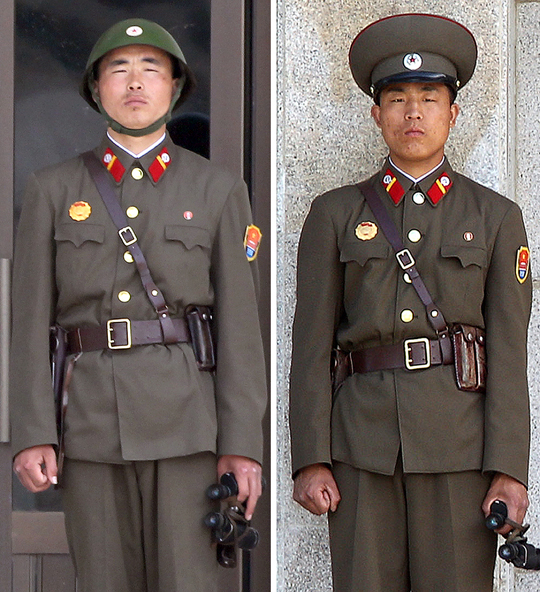 勤務中の朝鮮人民軍の兵士(本文とは関係ありません)