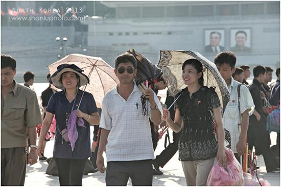北朝鮮平壌の町並み