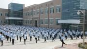 北朝鮮の開城工業団地のある企業で体操をしている女性従業員(本文とは関係ありません)