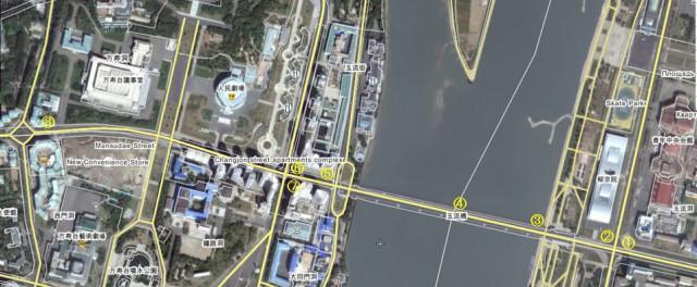 平壌市内の地図