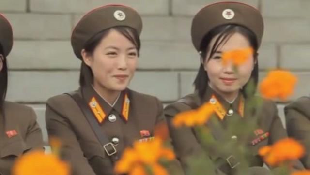 20150127北朝鮮女性兵士01
