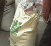 北朝鮮市場で売られる米