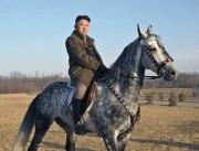 馬に乗る金正恩氏