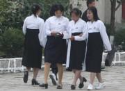 北朝鮮の女子学生(資料写真)