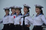 朝鮮人民軍の女性海軍兵士たち(本文とは関係ありません)