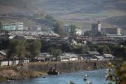 中国から撮影した北朝鮮・恵山市の町並み (画像:milky0733)