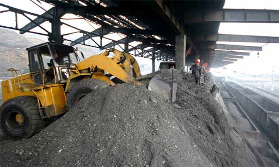 順川の隣の北倉地区炭鉱連合企業所の炭鉱