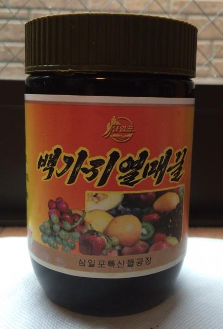 少しお高いが味も香りも濃厚な北朝鮮産の「本物」のハチミツ
