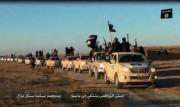 武装勢力「イスラム国」の車列