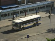 平壌市内の高麗ホテル前を走る、かつて阪神バスで使用されていた車両/西船junctionどっと混む提供