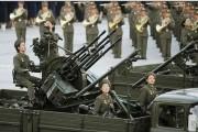 銃殺に使われた可能性のあるZPU-4対空砲と北朝鮮の女性兵士たち