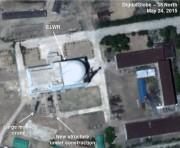 寧辺にある実験用軽水炉を撮影した衛星写真(画像:38North)