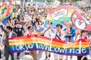 パレードに参加した東京レインボープライドの人々。(撮影:島崎ろでぃ)