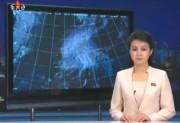 朝鮮中央テレビの天気予報(画像:朝鮮中央テレビキャプチャー)