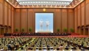 今年4月に開かれた最高人民会議13期3回会議の様子(画像:労働新聞キャプチャー)