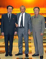 金正日氏、張成沢氏、オラスコム社のサウォリス会長/2011年1月23日