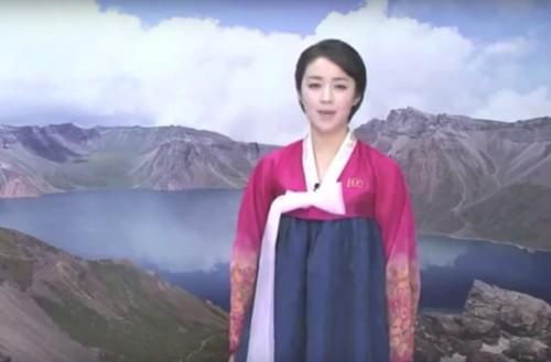 朝鮮中央テレビキャスター