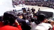 英紙デイリー・テレグラフが2015年に入手した北朝鮮の公開裁判の動画キャプチャー。
