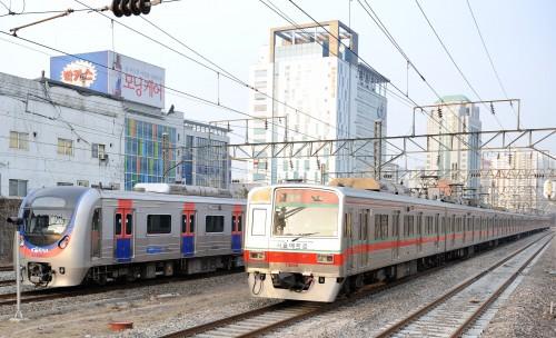 今回サイバー攻撃にあったソウルメトロが運営するソウル地下鉄1号線(画像:Tim Adams)