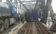 鴨緑江大橋の事故現場。一部がガタガタになっているのが見て取れる。(画像:騰迅大遼網)