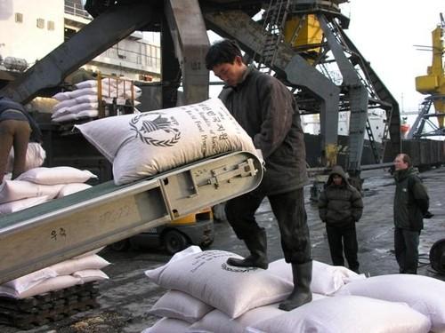 WFPが北朝鮮に支援した小麦粉