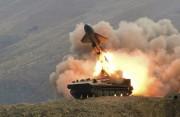 北朝鮮の軍事演習での対艦ミサイル試射(労働新聞)