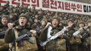 朝鮮人民軍の兵士たち