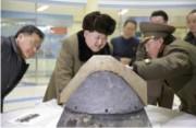 核兵器開発を現地指導する金正恩氏(2016年3月15日付労働新聞より)