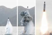 SLBMの試験発射(2016年4月24日付労働新聞より)