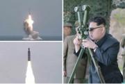 SLBM試験発射を現地指導した金正恩氏(2016年4月24日付労働新聞より)