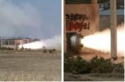 北朝鮮メディアが公開した固体燃料ロケットの実験場面(2016年3月24日付労働新聞)