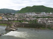 事件現場の対岸、北朝鮮の恵山市