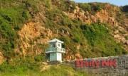 中朝国境を流れる鴨緑江のほとりに立つ北朝鮮の国境警備所。(撮影:デイリーNKソル・ソンア記者)