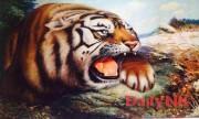 平壌の万寿台創作社所属の人民芸術家チェ・ジョンウク氏が描いた「朝鮮の虎」は2万6000元と非常に高価だ。(画像:デイリーNK)