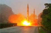 中距離弾道ミサイル・スカッドERの発射場面(労働新聞)