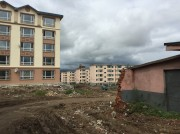 中国吉林省の開山屯の高台で行われている大規模な住宅建設工事(画像:読者提供)