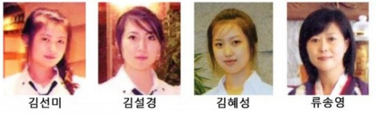 集団脱北した女性従業員の顔写真(画像:民族通信)