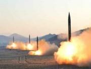 北朝鮮が6日に発射した、スカッドERと見られる弾道ミサイル(朝鮮中央通信)