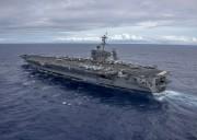 米海軍の原子力空母「カール・ビンソン」(米海軍提供)