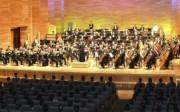 北朝鮮の牡丹峰劇場で行われたコンサート「金正恩将軍に栄光を」(2017年4月13日付労働新聞より)