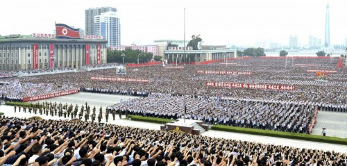 6・25米帝反対闘争の日平壌市民大会(2017年6月26日付労働新聞より)