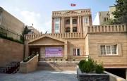 新築され3日に開館式が行われた在イラン北朝鮮大使館(ウェブサイト「朝鮮の今日」)