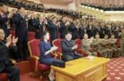水爆実験の成功に寄与した核科学者、技術者のための祝賀公演(2017年9月10日付労働新聞より)