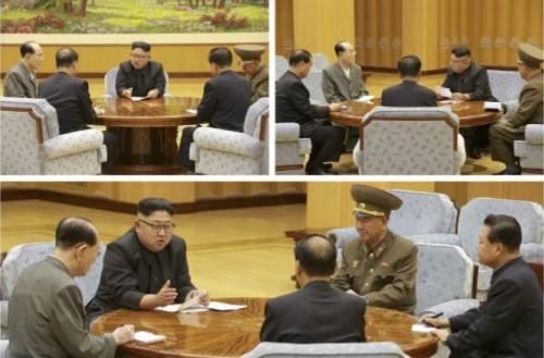 水爆実験を決定した朝鮮労働党政治局常務委員会(2017年9月4日付労働新聞より)